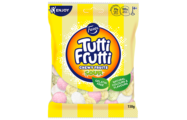 Tutti Frutti Chewy Fruits Sour natural 150 g