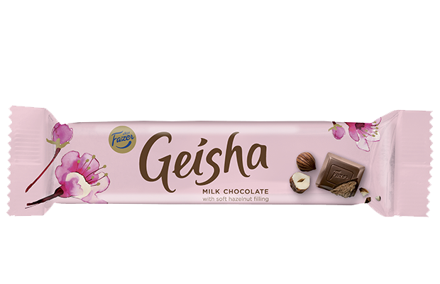 Geisha milk chocolate with soft hazelnut filling 37 g